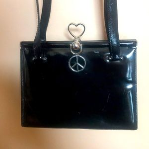 Moschino Black Leather Handbag